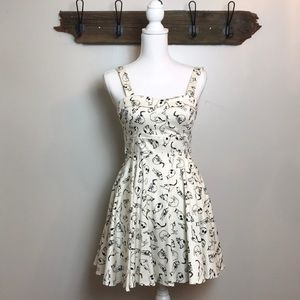 ModCloth Cat A-line Dress from Ixia Retro Look